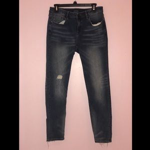 Vigoss Dark Distressed Skinny Jagger Jean 32x28